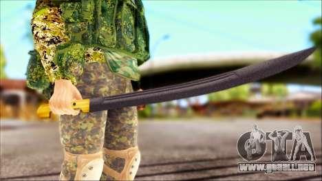 Shashka Cosaco para GTA San Andreas segunda pantalla