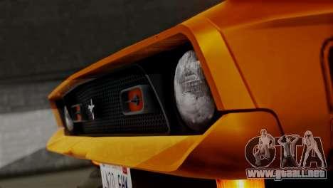 Ford Mustang Mach 1 429 Cobra Jet 1971 HQLM para la visión correcta GTA San Andreas