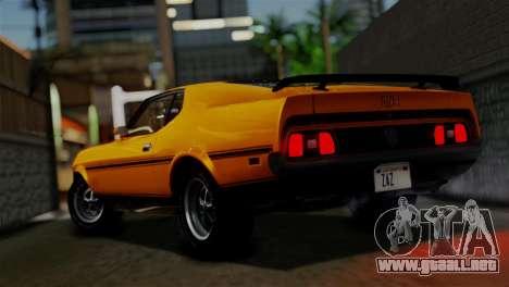 Ford Mustang Mach 1 429 Cobra Jet 1971 HQLM para GTA San Andreas left