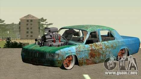 GAZ 31029 para GTA San Andreas vista hacia atrás