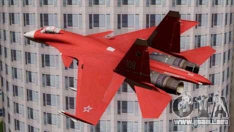 SU-37 Flanker-F Soviet Parade para GTA San Andreas left