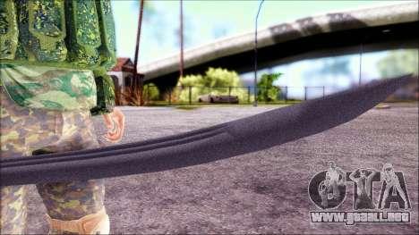 Shashka Cosaco para GTA San Andreas sucesivamente de pantalla