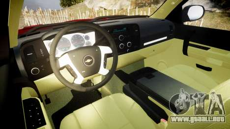 Chevrolet Silverado 1500 LT Extended Cab wheels2 para GTA 4 vista hacia atrás