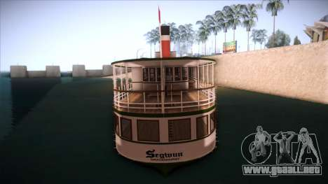Indonesia Ferri para GTA San Andreas vista posterior izquierda
