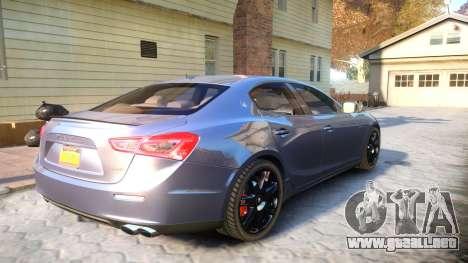 Maserati Ghibli 2014 v1.0 para GTA 4 visión correcta