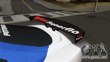 Toyota Supra 2005 EXXON SuperFlo para la visión correcta GTA San Andreas