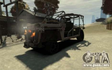 M1161 Growler para GTA 4 vista hacia atrás