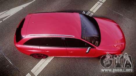 Audi S4 Avant 2013 para GTA 4 visión correcta