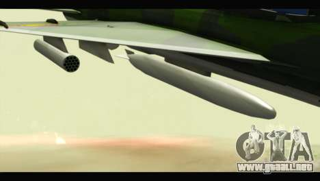 Mikoyan-Gurevich MIG-21UM Vietnam Air Force v2.0 para la visión correcta GTA San Andreas