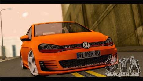 Volkswagen Golf GTI 2014 para GTA San Andreas vista posterior izquierda