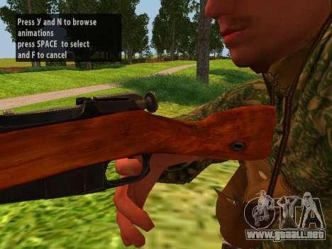 Los soldados del ejército rojo para GTA San Andreas sucesivamente de pantalla