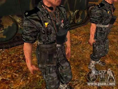 Tanque alemán comandante para GTA San Andreas sucesivamente de pantalla