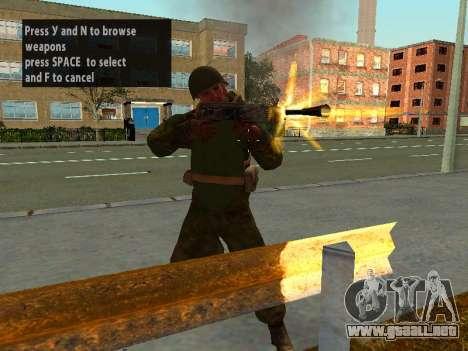 Los soldados del ejército rojo en la armadura para GTA San Andreas sucesivamente de pantalla
