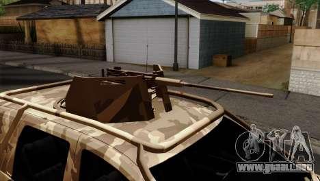 Dacia Duster Army Skin 4 para GTA San Andreas vista hacia atrás