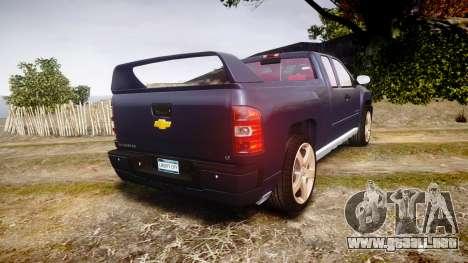 Chevrolet Silverado 1500 LT Extended Cab wheels2 para GTA 4 Vista posterior izquierda