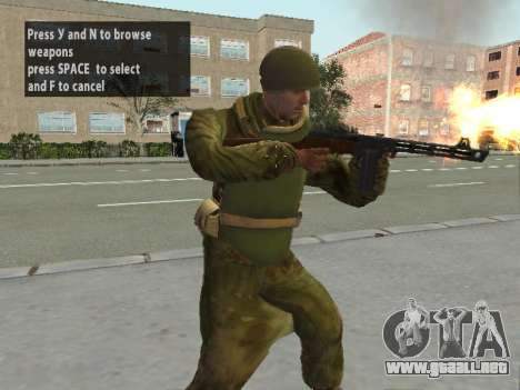 Los soldados del ejército rojo en la armadura para GTA San Andreas segunda pantalla