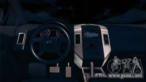 Ford Edge COPE - PCSC para GTA San Andreas vista posterior izquierda