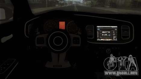 Dodge Charger 2013 Policia Federal Mexico para la visión correcta GTA San Andreas