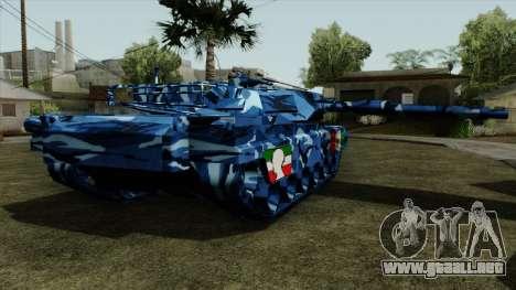 Azul camuflaje militar para el tanque para GTA San Andreas left