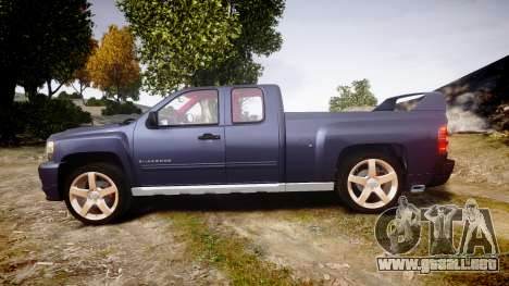 Chevrolet Silverado 1500 LT Extended Cab wheels2 para GTA 4 left