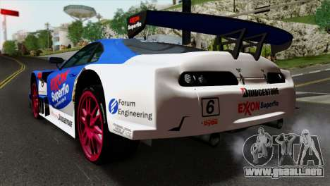 Toyota Supra 2005 EXXON SuperFlo para GTA San Andreas left