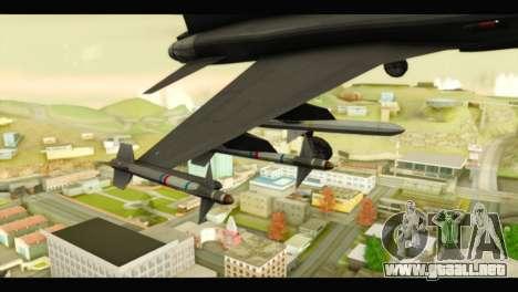 Northrop F-5E Top Gun para la visión correcta GTA San Andreas