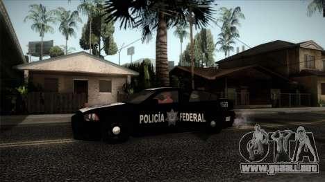 Dodge Charger 2013 Policia Federal Mexico para GTA San Andreas vista posterior izquierda