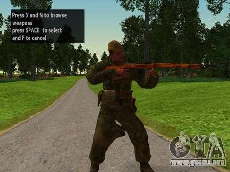 Los soldados del ejército rojo para GTA San Andreas segunda pantalla