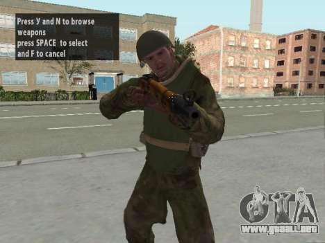 Los soldados del ejército rojo en la armadura para GTA San Andreas tercera pantalla