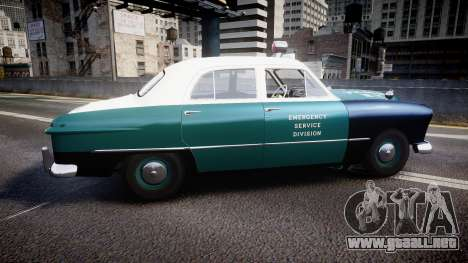 Ford Custom Deluxe Fordor 1949 New York Police para GTA 4 left