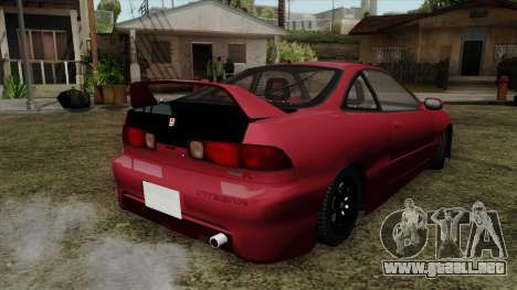 Honda Integra para GTA San Andreas left