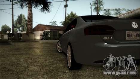 Volkswagen Jetta GLI Edition 30 2014 para GTA San Andreas vista posterior izquierda