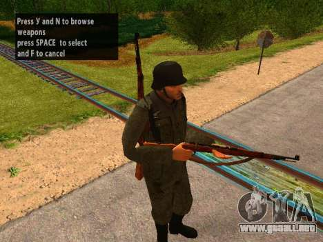 Spanish soldiers para GTA San Andreas tercera pantalla