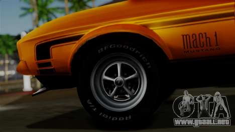 Ford Mustang Mach 1 429 Cobra Jet 1971 HQLM para GTA San Andreas vista posterior izquierda