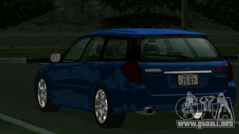 Subaru Legacy Touring Wagon 2003 para la visión correcta GTA San Andreas
