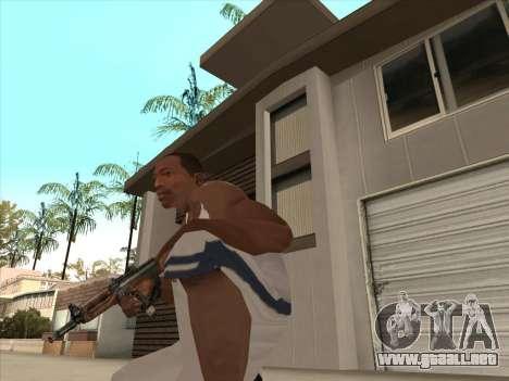 Ruso metralletas para GTA San Andreas quinta pantalla
