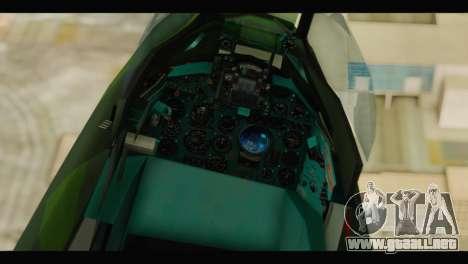 Mikoyan-Gurevich MIG-21UM Vietnam Air Force v2.0 para GTA San Andreas vista hacia atrás