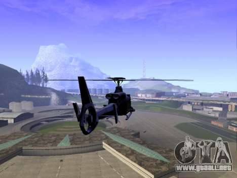 GTA 5 Valkyrie para GTA San Andreas vista posterior izquierda