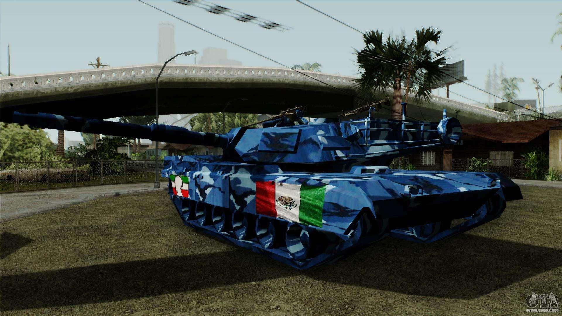 Azul Camuflaje Militar Para El Tanque Para Gta San Andreas