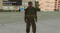 Los soldados del ejército rojo en la armadura