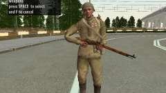 Los soldados del ejército rojo en el casco para GTA San Andreas