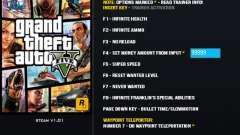 GTA V Entrenador para GTA 5