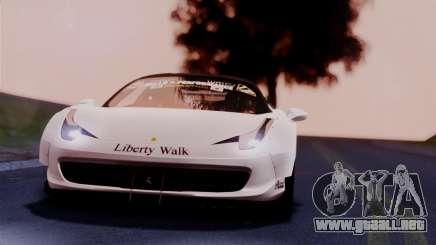 Ferrari 458 Italy Liberty Walk LB Performance para GTA San Andreas