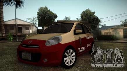 Nissan Micra Taxi DF 2012 para GTA San Andreas