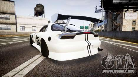 Mazda RX-7 Mad Mike Final Update three PJ para GTA 4 Vista posterior izquierda