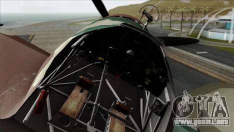 Fokker D.XXI para la visión correcta GTA San Andreas