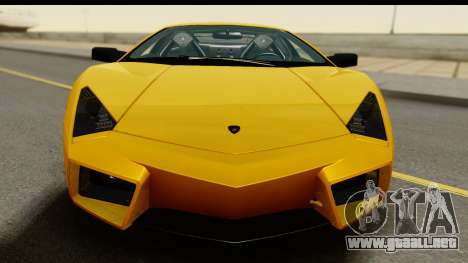 Lamborghini Reventon 2008 para GTA San Andreas vista posterior izquierda