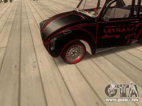 Volkswagen Super Beetle Grillos Racing v1 para GTA San Andreas vista hacia atrás