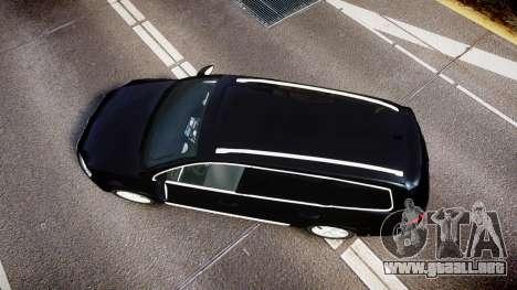 Volkswagen Passat B7 Police 2015 [ELS] unmarked para GTA 4 visión correcta