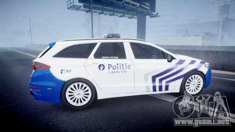 Ford Fusion Estate 2014 Belgian Police [ELS] para GTA 4 left